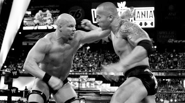 Rock Vs Austin WrestleMania