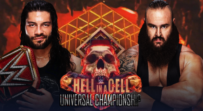 roman reigns vs braun strowman hell in a cell