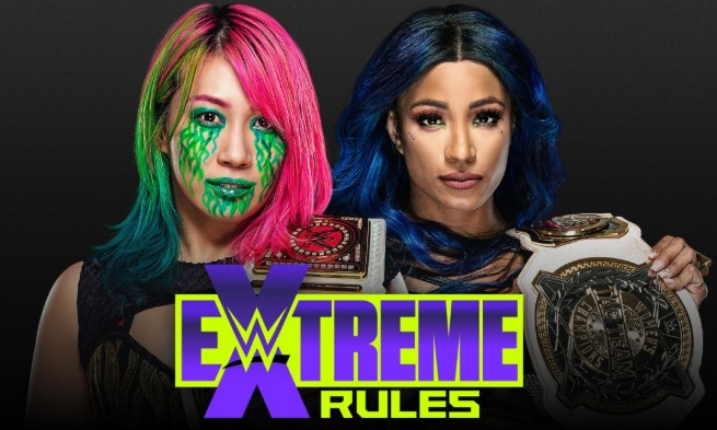 asuka vs sasha banks wwe extreme rules